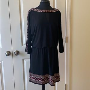 WHBM Stunning Black Dress Large EUC